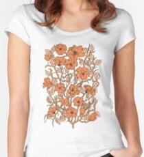 Frühling Tailliertes Rundhals-Shirt