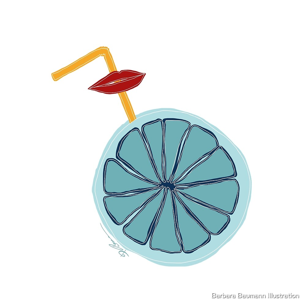 Everything is blue von Barbara Baumann Illustration