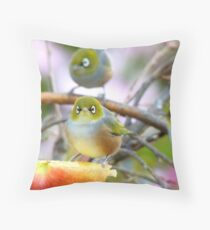 AND SO!!.. Where Is The Better Half?  - Silver-Eye - NZ Throw Pillow