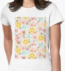 Colourful Summer Flowers Womens Fitted T-Shirt