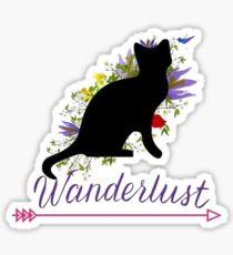 Wanderlust - cat Sticker