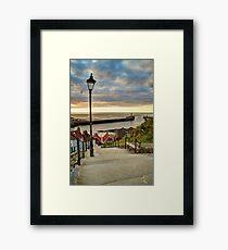 Whitby Sun Set Framed Print