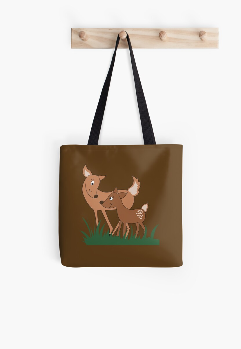 Woodland Deer Mommy and Baby  by JessDesigns