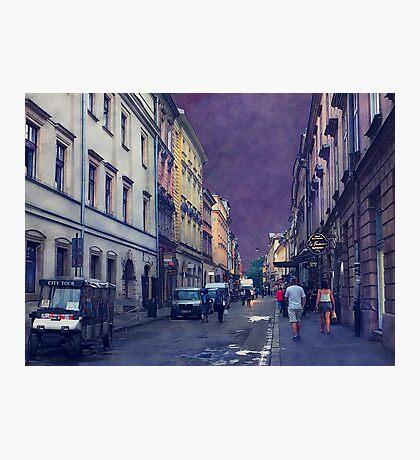 Cracow Slawkowska street #cracow #krakow Photographic Print