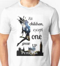 Peter Pan Print - 'All Children Except One Grow Up' T-Shirt