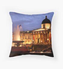 Trafalgar Square & National Gallery Throw Pillow