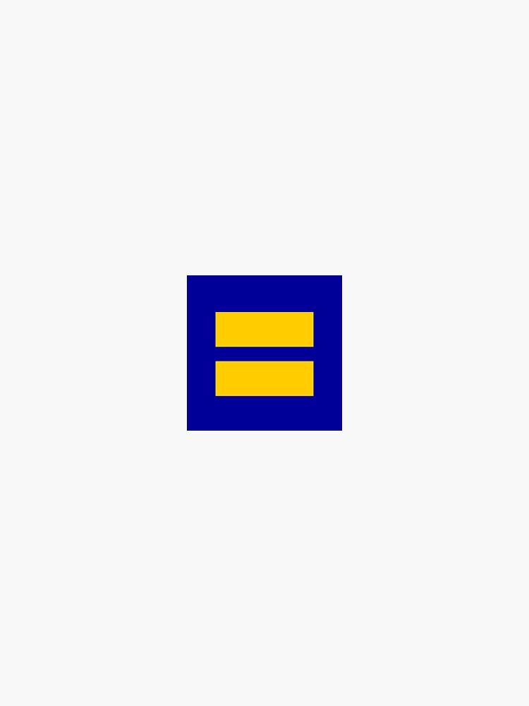 Etiqueta de Igualdad de la Campaña de Derechos Humanos de Sylvdesigns