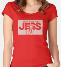 Murder, She Wrote: Don't Mess With Jess  Women's Fitted Scoop T-Shirt