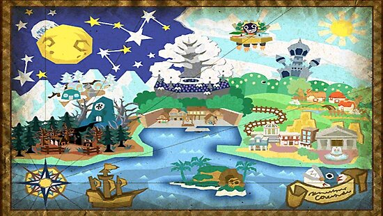 Quot Paper Mario Map Quot Posters By Curiknight5 Redbubble