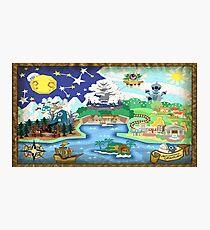 Paper Mario Map Photographic Print