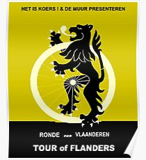 TOUR of FLANDERS: Vintage Cycle Racing Advertising Print Poster