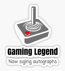 Gaming Legend Signing Autographs Sticker
