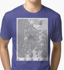 Perth Map Line Tri-blend T-Shirt