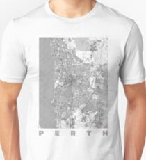 Perth Map Line Unisex T-Shirt