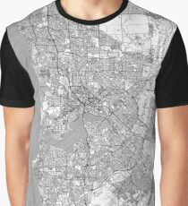 Perth Map Line Graphic T-Shirt