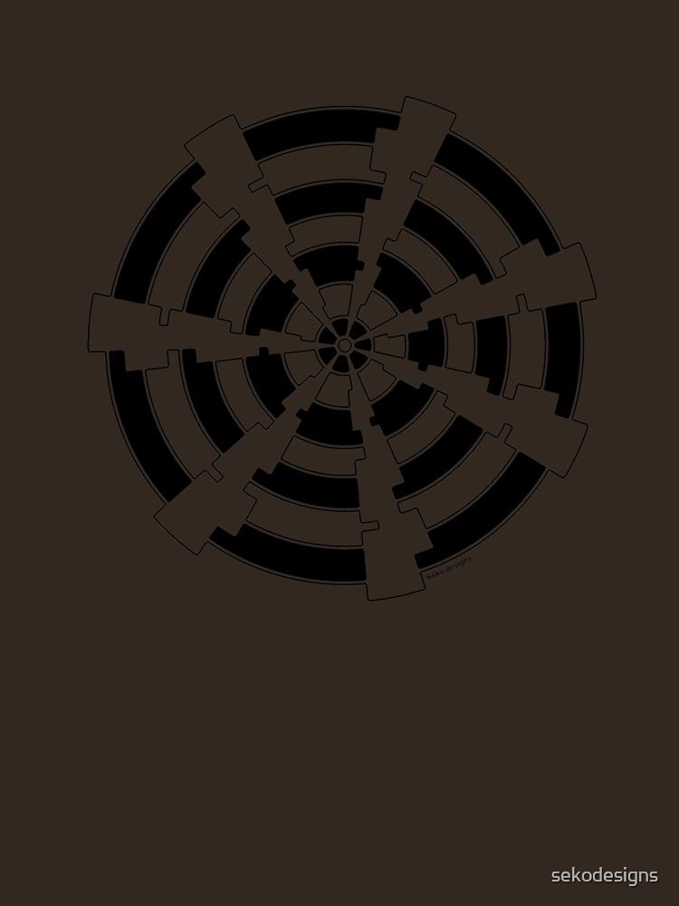 Mandala 30 Back In Black by sekodesigns