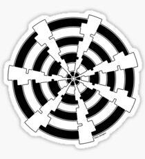 Mandala 30 Back In Black Sticker