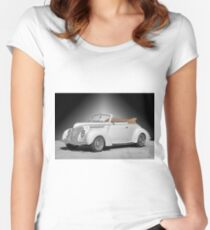 1938 Ford Deluxe Club Convertible II Women's Fitted Scoop T-Shirt