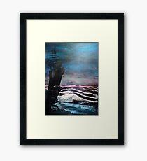 Midnight Beach Framed Print