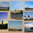 Lighthouse Collage by Linda Jackson