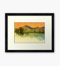 Serenity landscape 18  Watercolor  Framed Print