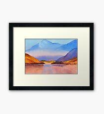 Serenity landscape 16  Watercolor  Framed Print