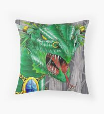 bull dragon Throw Pillow