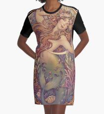 Andersen's Little Mermaid Graphic T-Shirt Dress