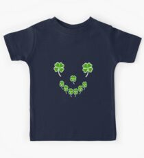 LUCKY, Four Leaf Clover, Smiley Face Kids Clothes