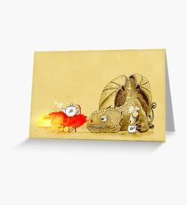 Dragon making tea Greeting Card