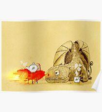 Dragon making tea Poster