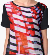 Red White and Blue Women's Chiffon Top