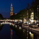 Amsterdam Blue Hour by Georgia Mizuleva