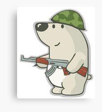 "CSGO: Sticker ""Nelu The Bear"" Canvas Print"