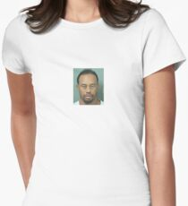 Tiger Woods Mugshot Womens Fitted T-Shirt