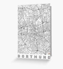 Dortmund Map Line Greeting Card