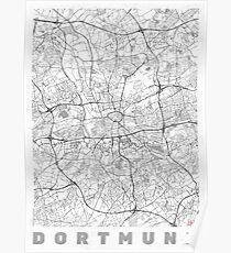 Dortmund Map Line Poster
