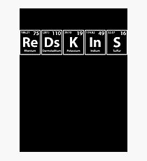 Redskins (Re-Ds-K-In-S) Periodic Elements Spelling Photographic Print