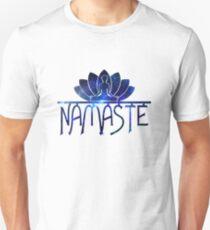 Galaxy Namaste Yoga Lotus Flower Unisex T-Shirt