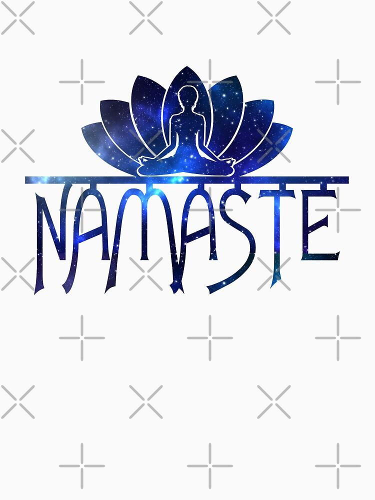 Galaxy Namaste Yoga Lotus Flower by EthosWear