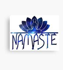 Galaxy Namaste Yoga Lotus Flower Canvas Print