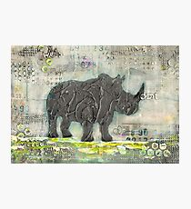 majestic series: rhino on a roll Photographic Print
