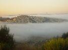 Mist around Jerusalem by Moshe Cohen