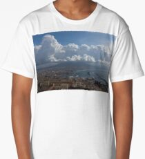 Cruising Into the Port of Naples, Italy Long T-Shirt