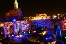 Tower of david with magic lights by Moshe Cohen