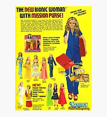 THE BIONIC WOMAN - THE NEW MISSION PURSE Photographic Print