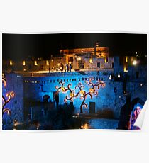 Castle of David special lights Poster