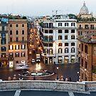 Via Condotti Waking Up - Impressions Of Rome by Georgia Mizuleva