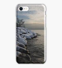Clearing Snowstorm - Lake Ontario, Toronto, Canada iPhone Case/Skin