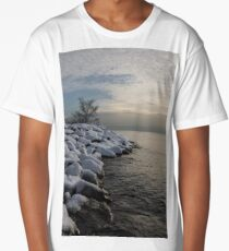 Clearing Snowstorm - Lake Ontario, Toronto, Canada Long T-Shirt